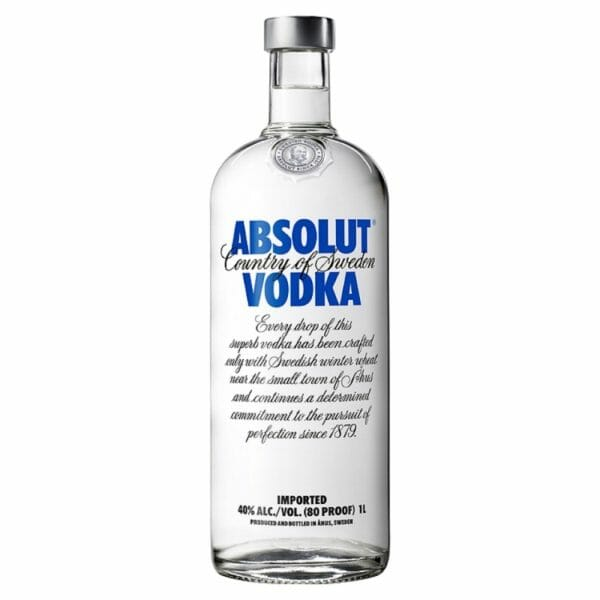 Absolut Vodka 80 Blue Litre