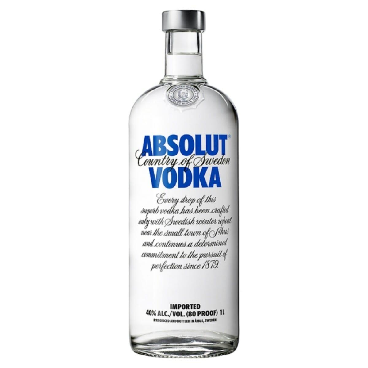 Absolut Vodka 80 Blue Litre