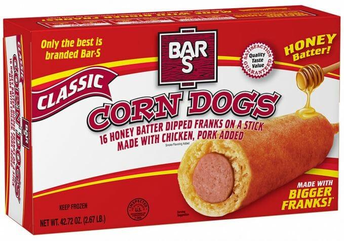 Bar-S Corn Dogs 2.67lb EA