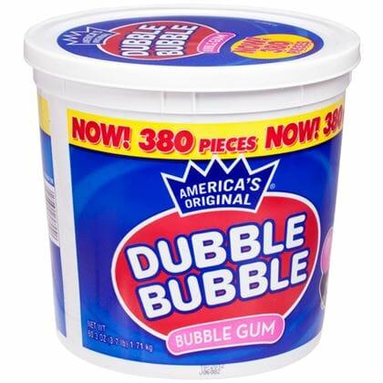 Dubble Bubble Gum 380ct