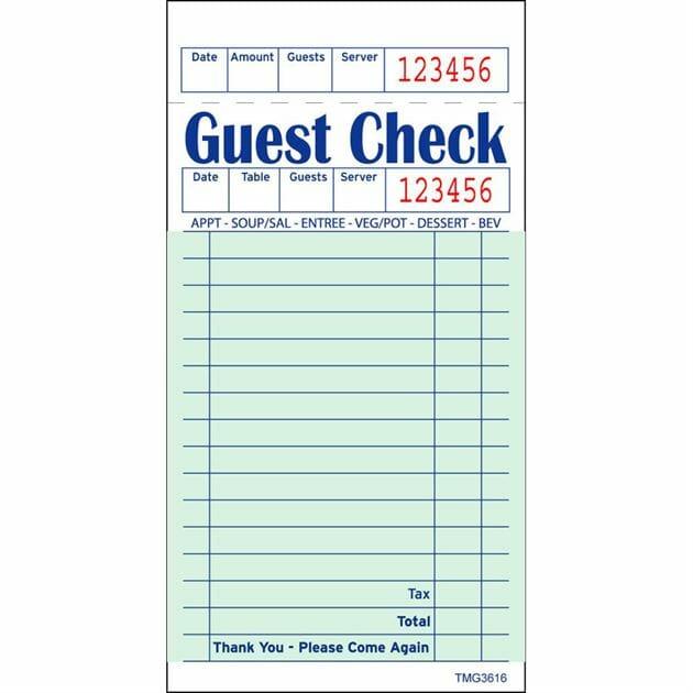 Guest Check Books 20ct