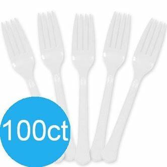 Pro Brands Fork Wht 10/100ct