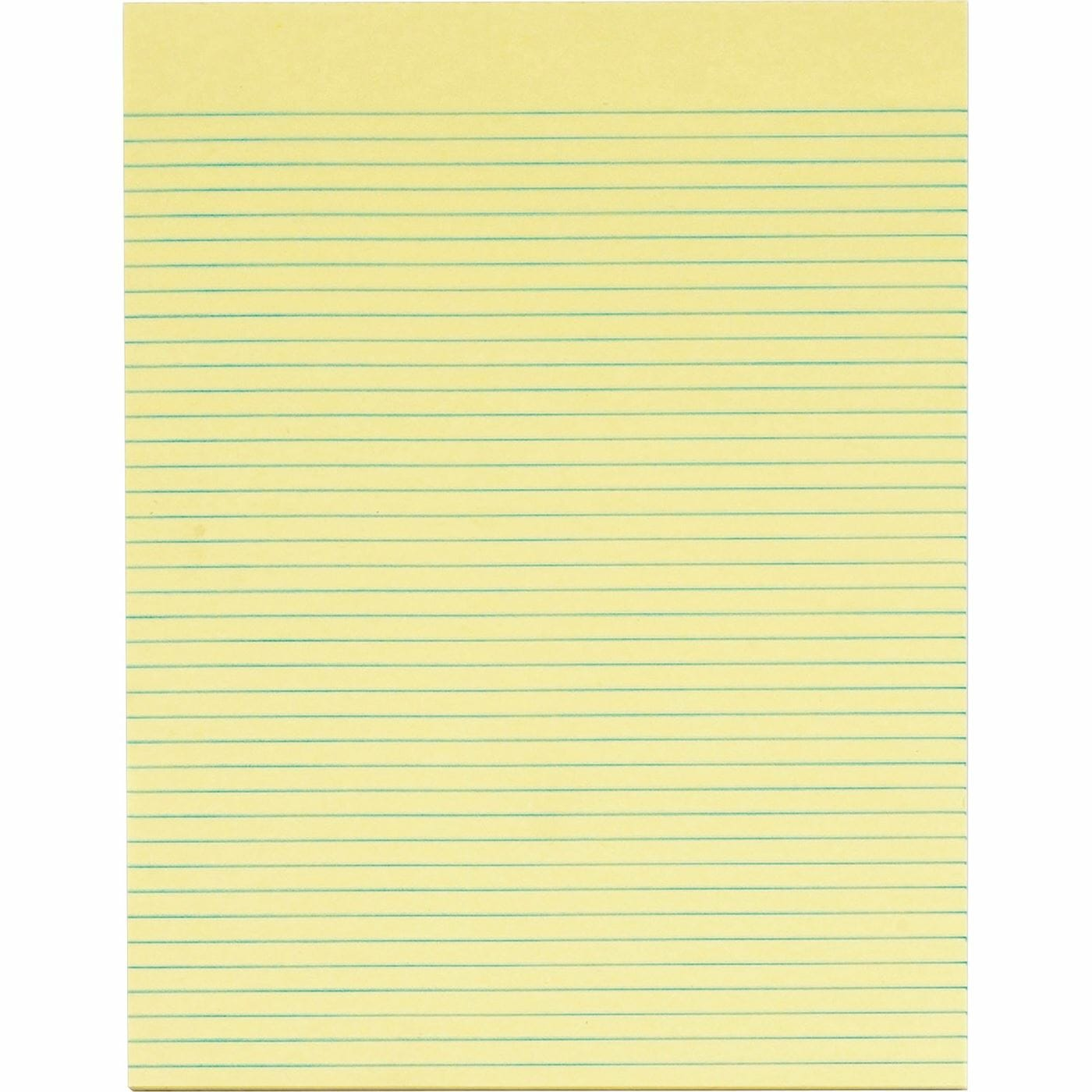 Writing Pad 15pk Letter Canary